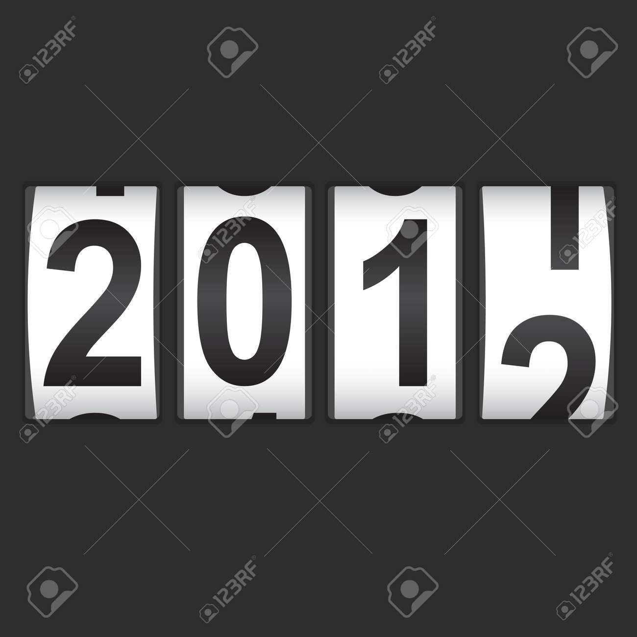2012 New Year counter. Stock Vector - 11171878