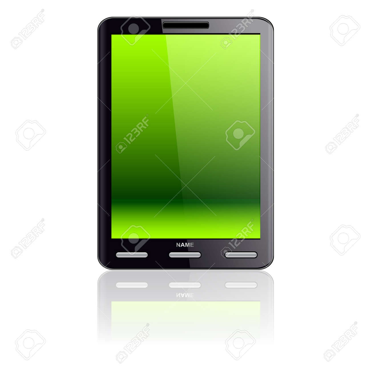 Vertical Tablet computer isolated on the white background Stock Vector - 11299028