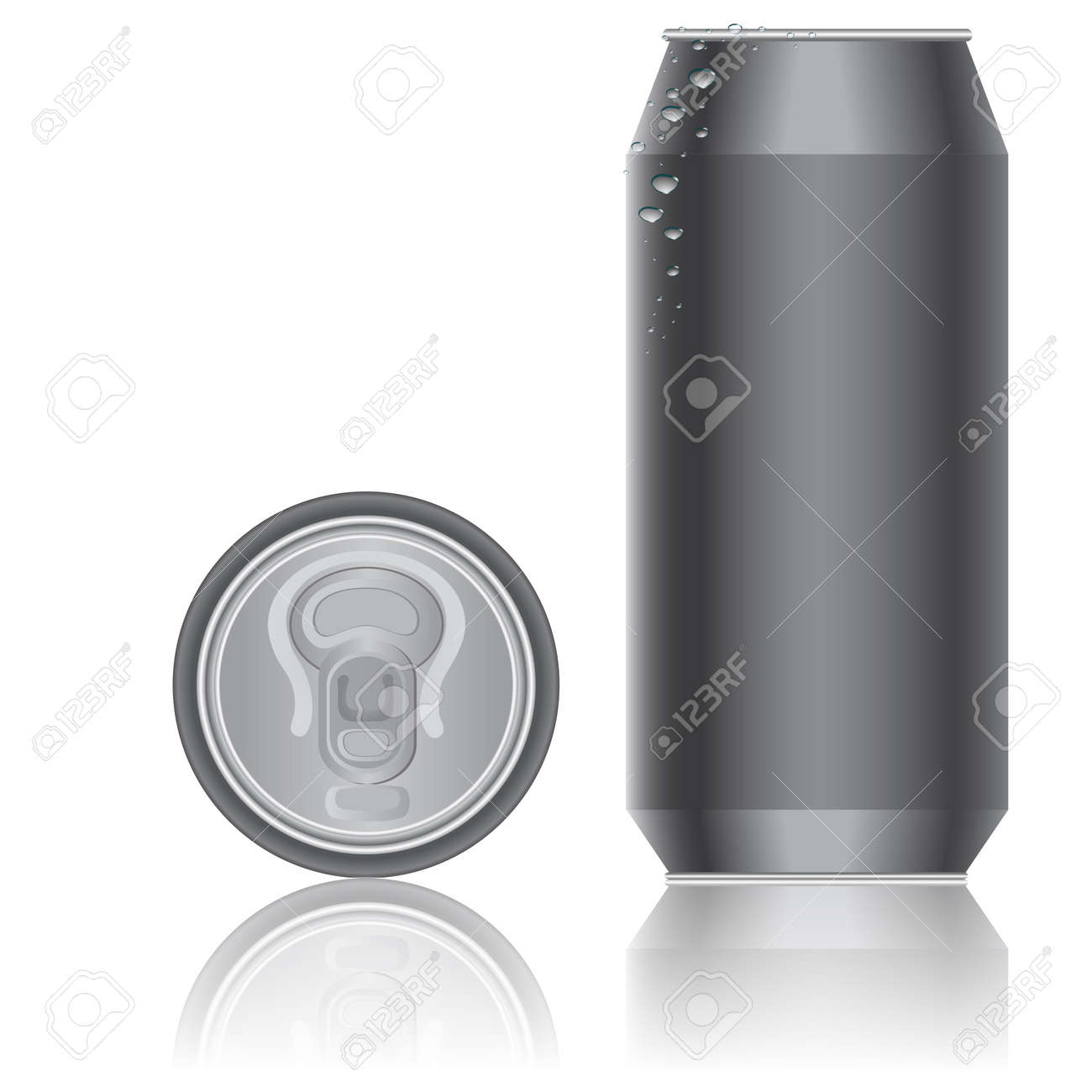 Aluminum packaging for beverages. Vector. - 11582733