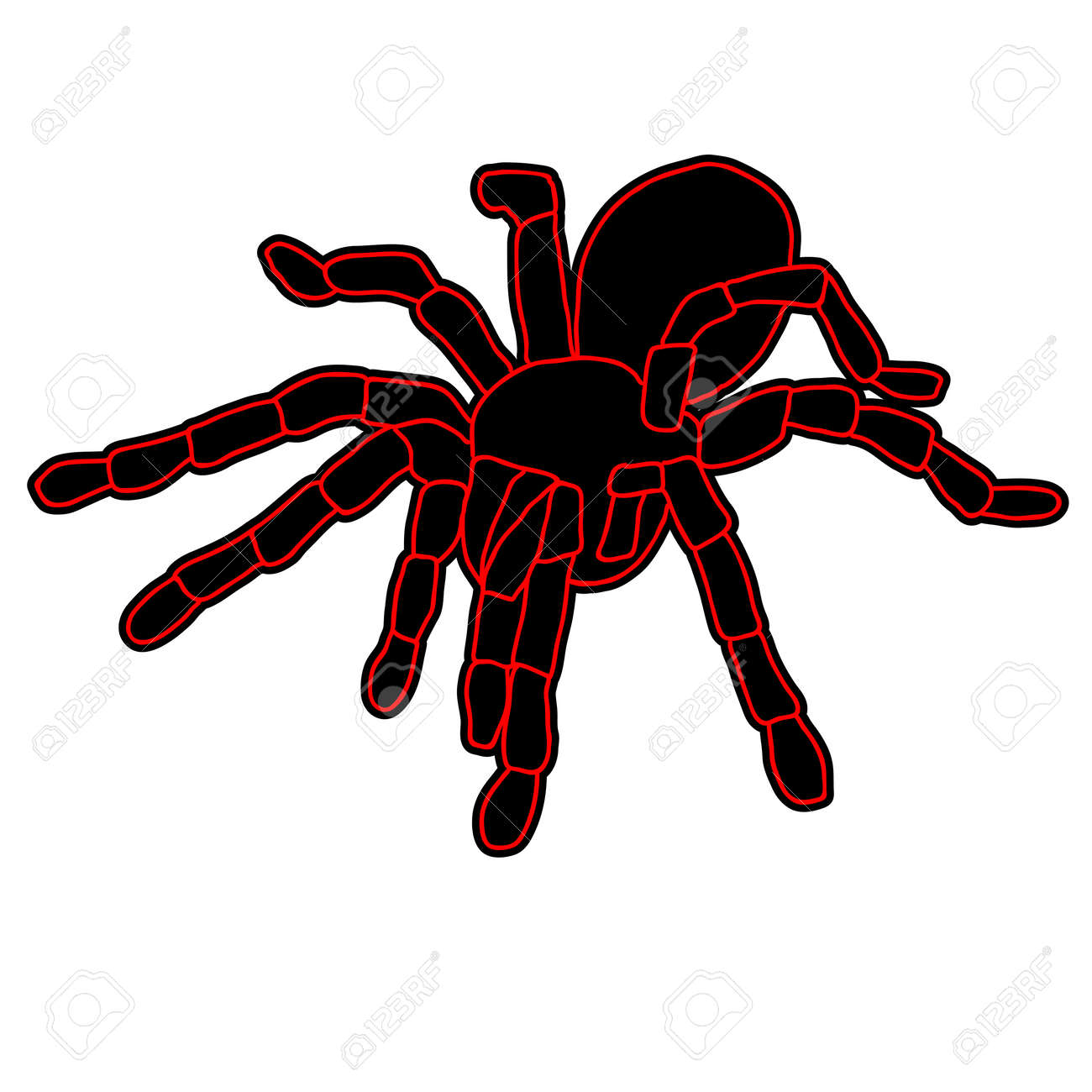 Tattoo of black widow isolated on white background. Stock Vector - 11930929