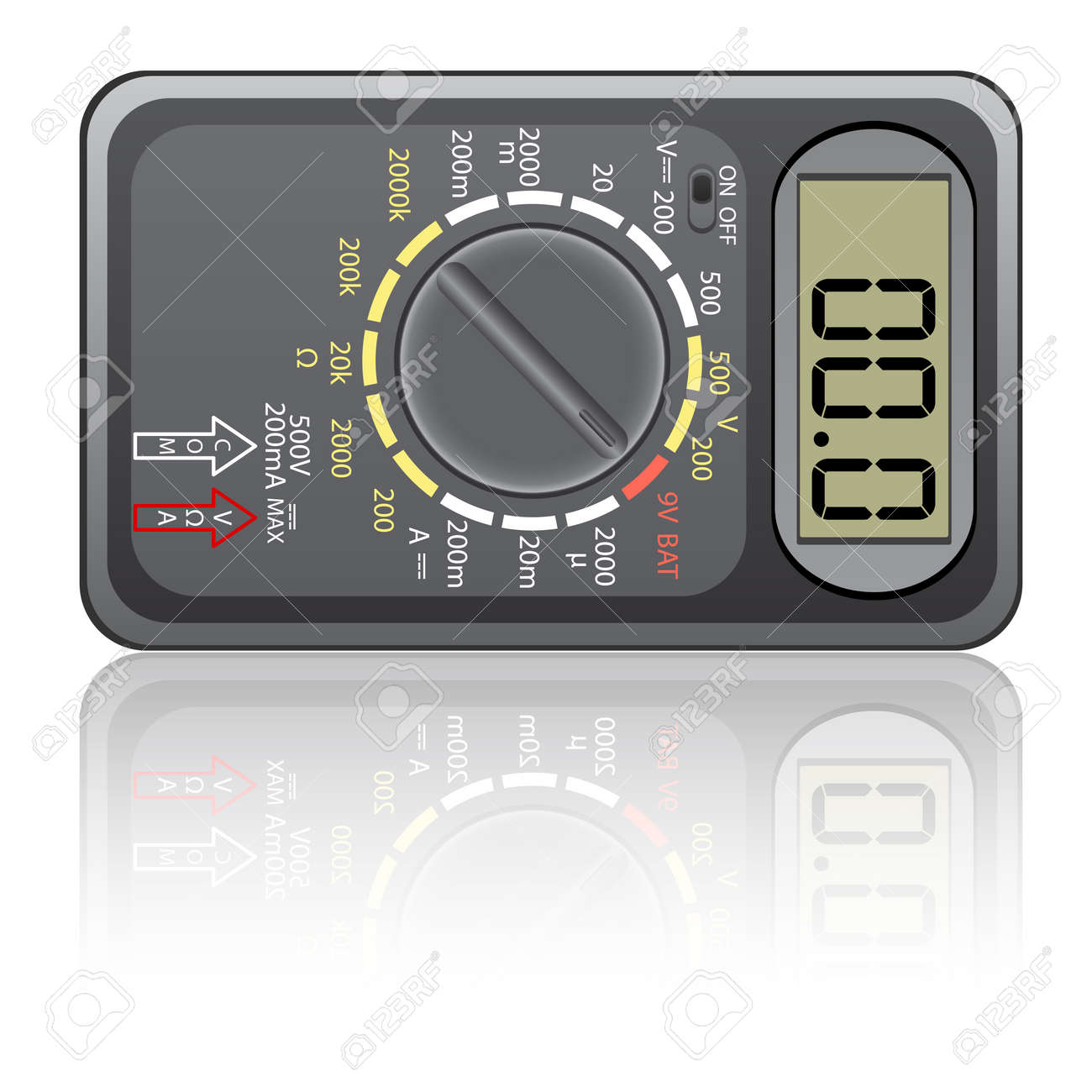 Digital multimeter. Vector illustration. Isolated on white background. Stock Vector - 12481791