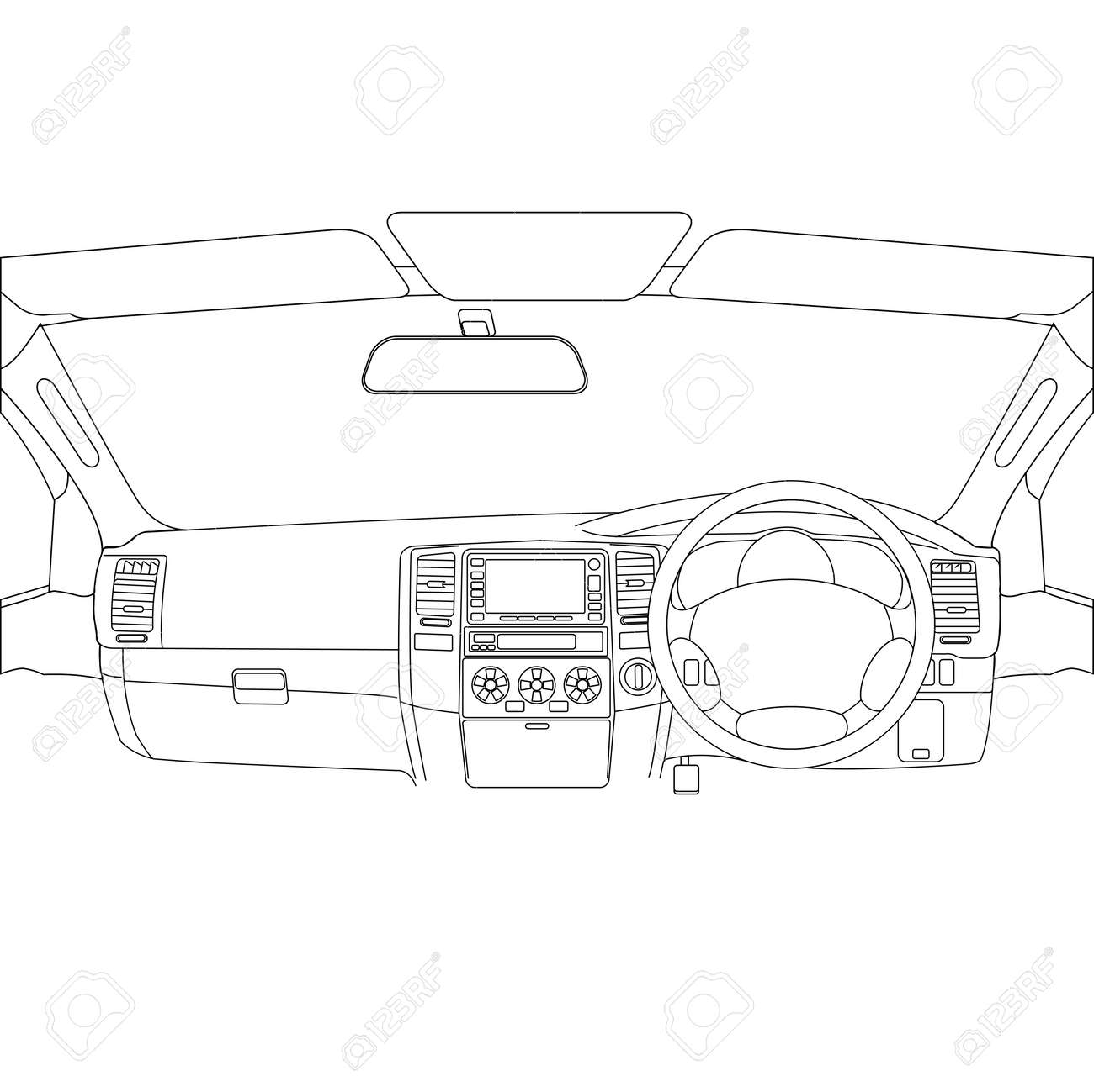 The car without a driver on the road. Stock Vector - 12919303