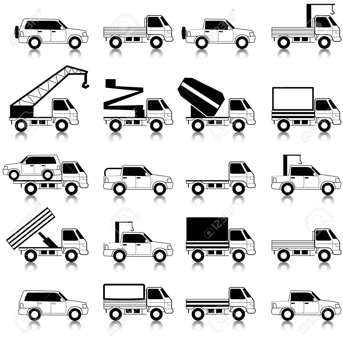 Cars, vehicles  Car body  Special cars  technique Stock Vector - 12919344
