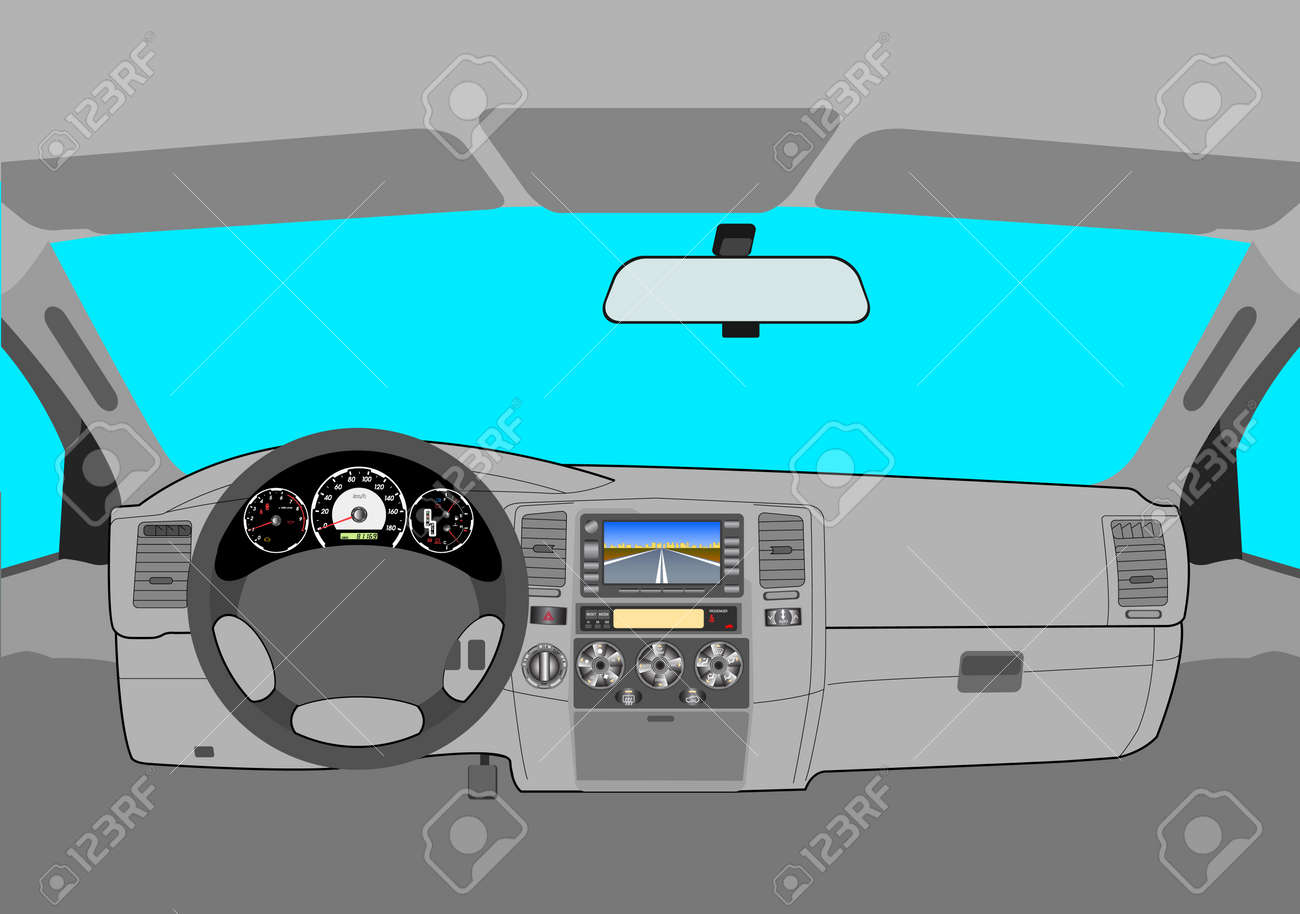 The car without a driver on the road Stock Vector - 12919336