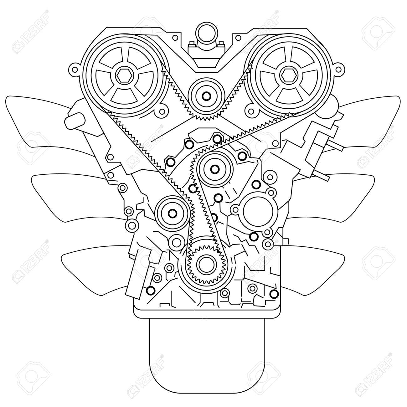 Internal combustion engine Stock Vector - 14728980