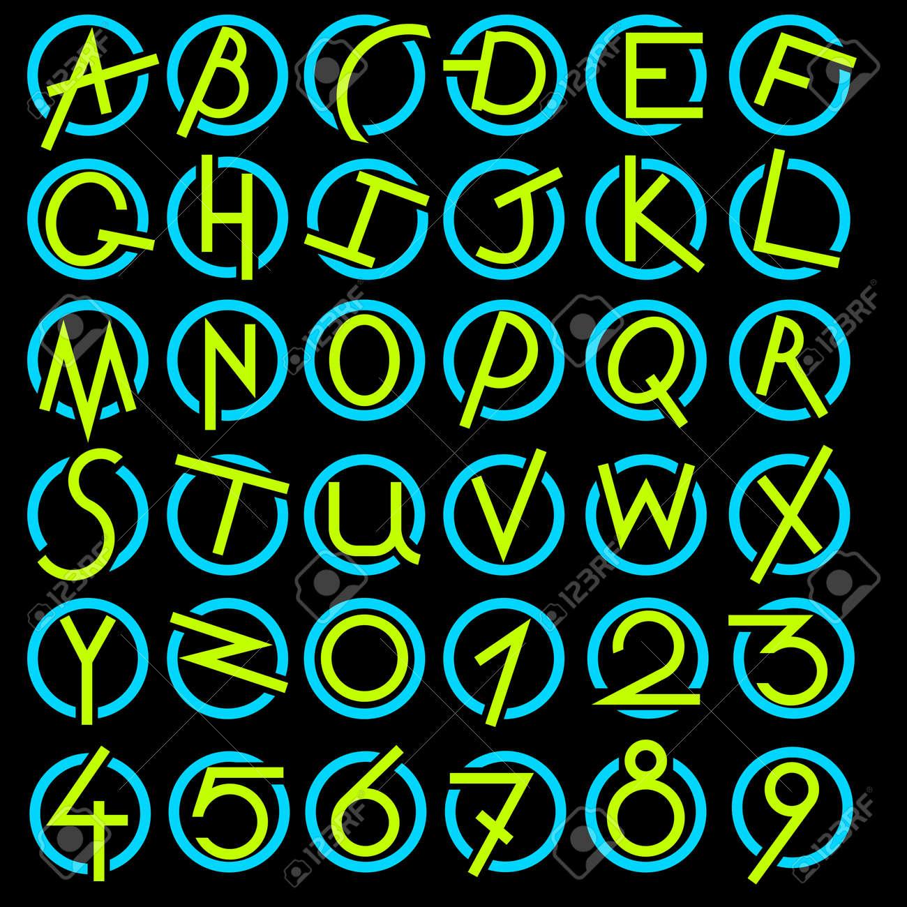 Decorative alphabet set Stock Vector - 14729198