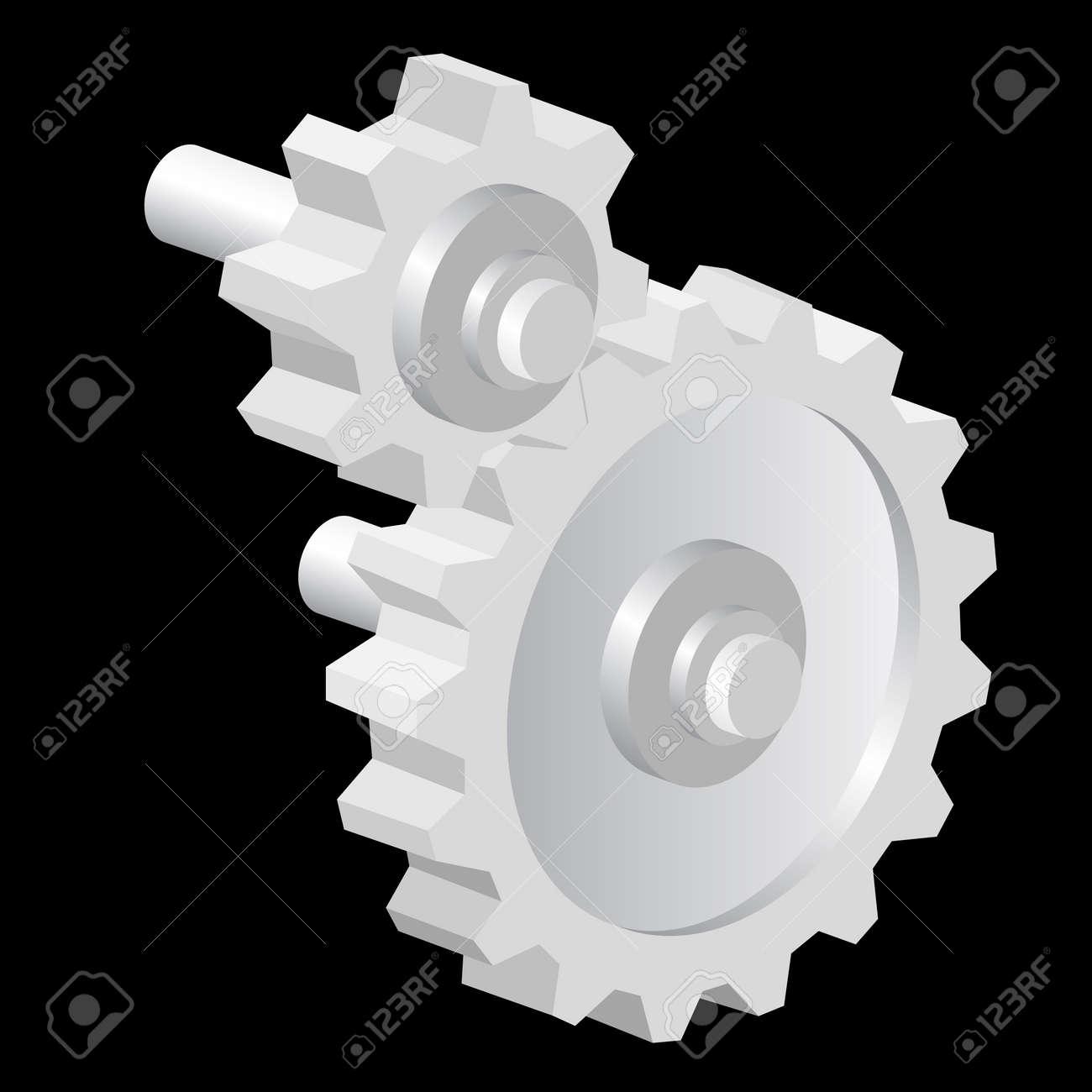 Industrial icon big steel gear. vector illustration Stock Vector - 16114263