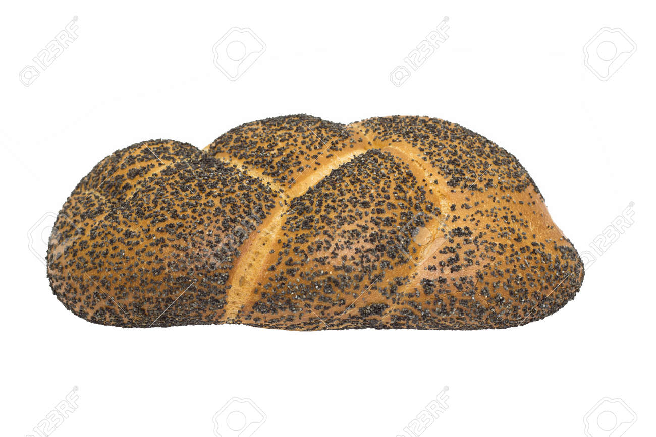 bread with poppy seeds isolated on a white background Stock Photo - 16756094