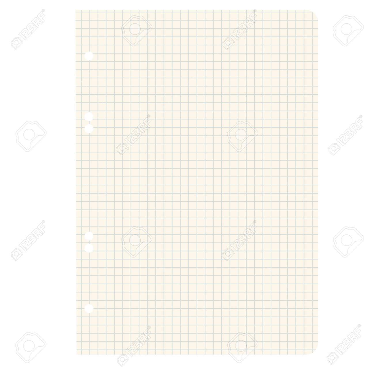 White squared blank white paper sheet  Vector illustration Stock Vector - 17015951
