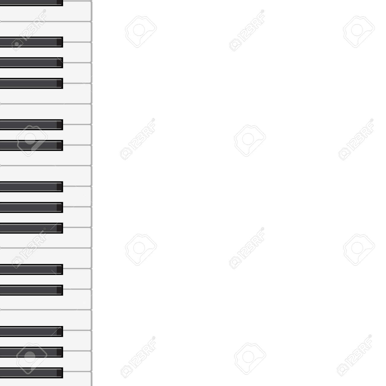 music background with piano keys   illustration Stock Vector - 17603299