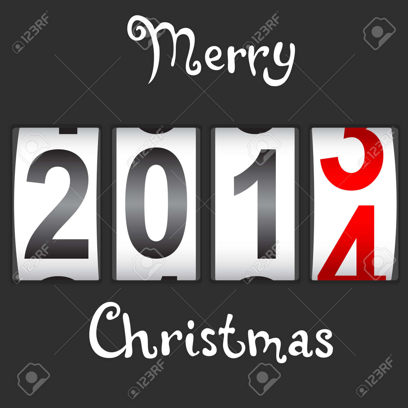 2014 New Year counter Stock Vector - 17986683