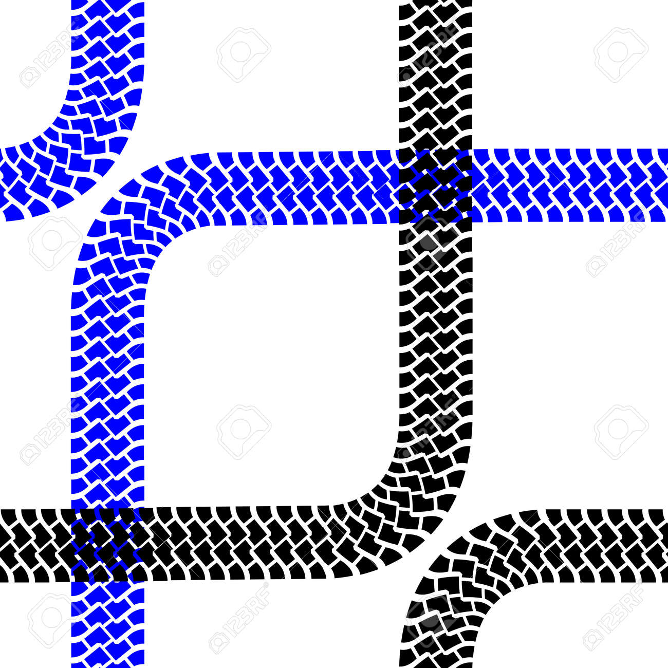 Seamless wallpaper tire tracks pattern illustration background Stock Vector - 17986989
