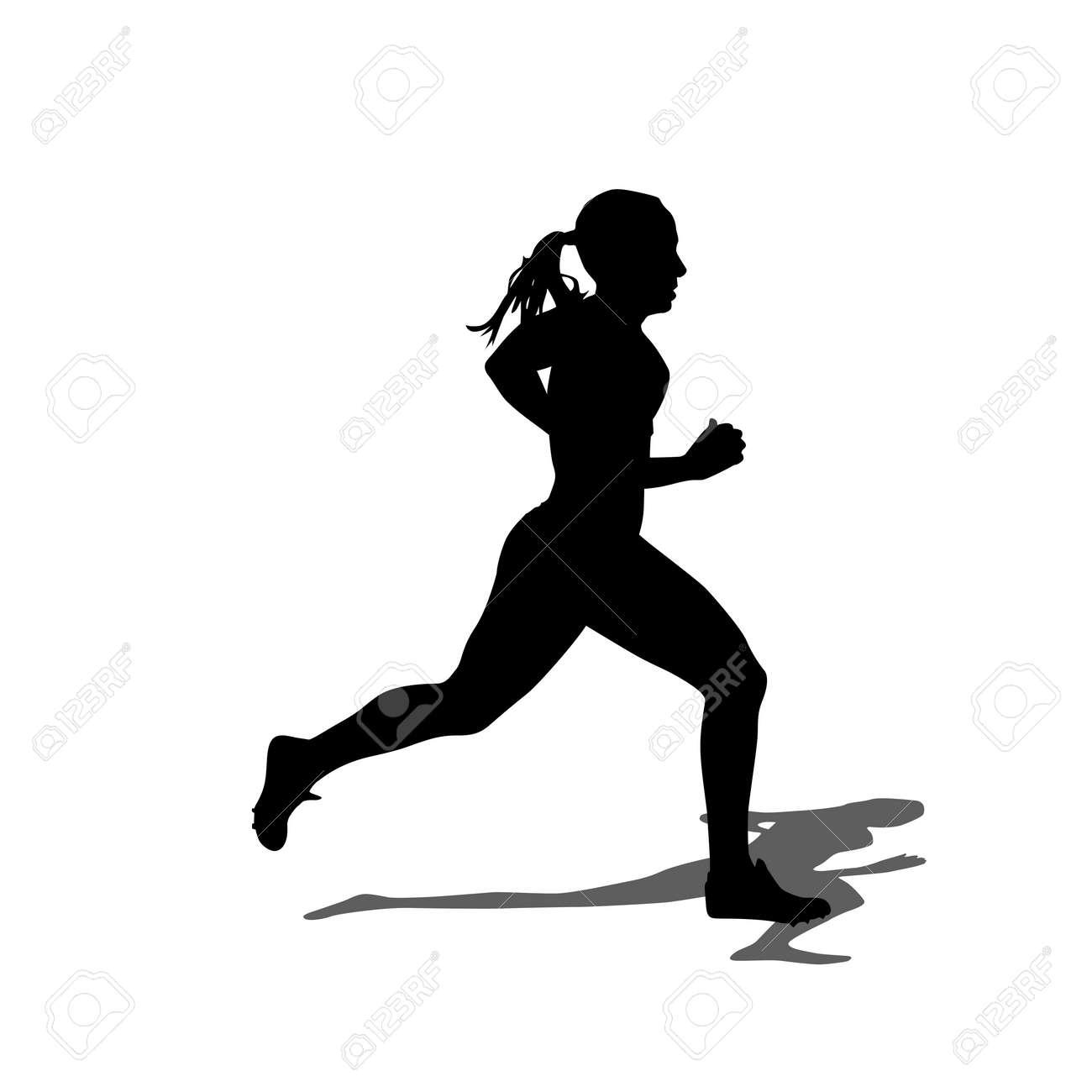 Running silhouettes. Vector illustration. - 20671731