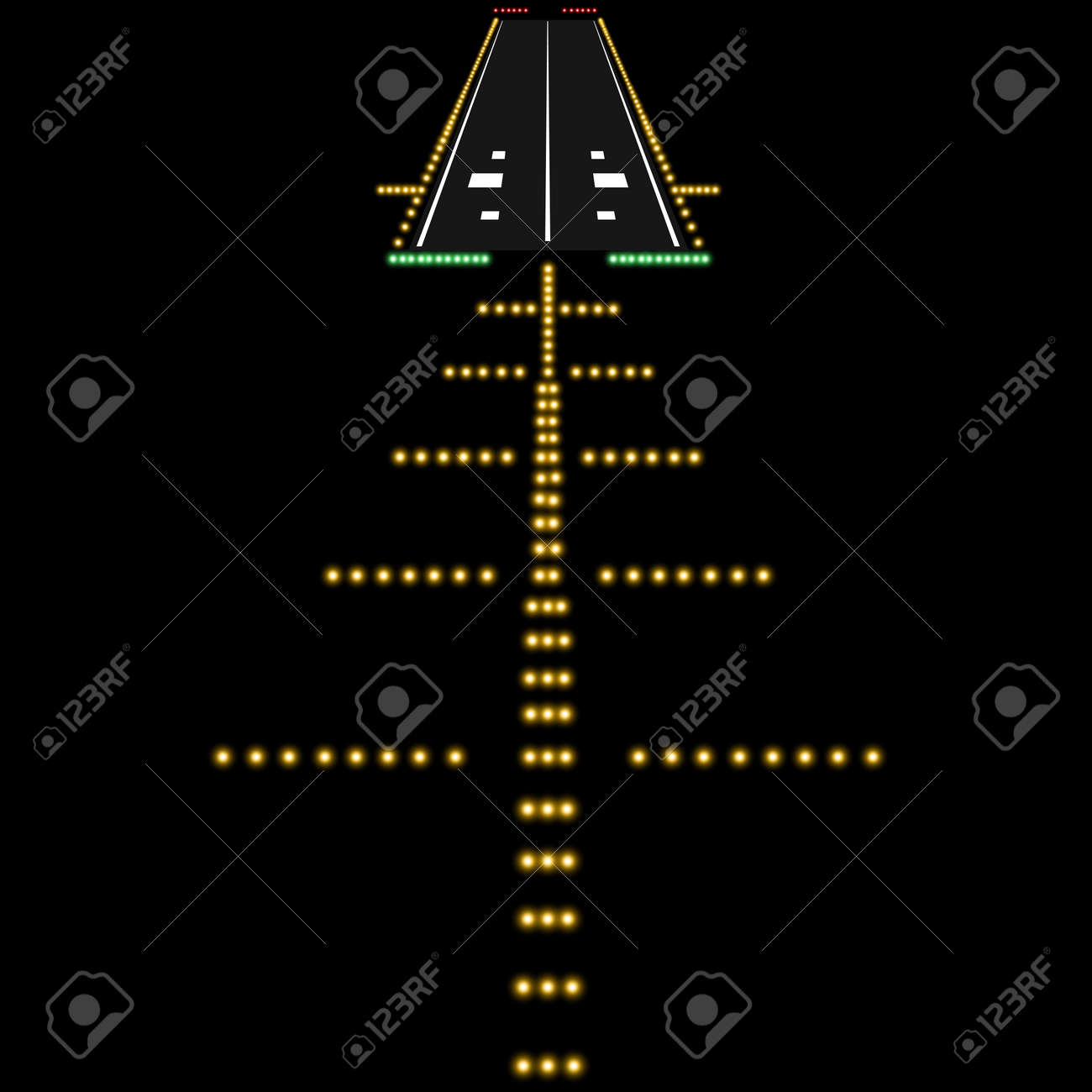 Landing lights  Vector illustration