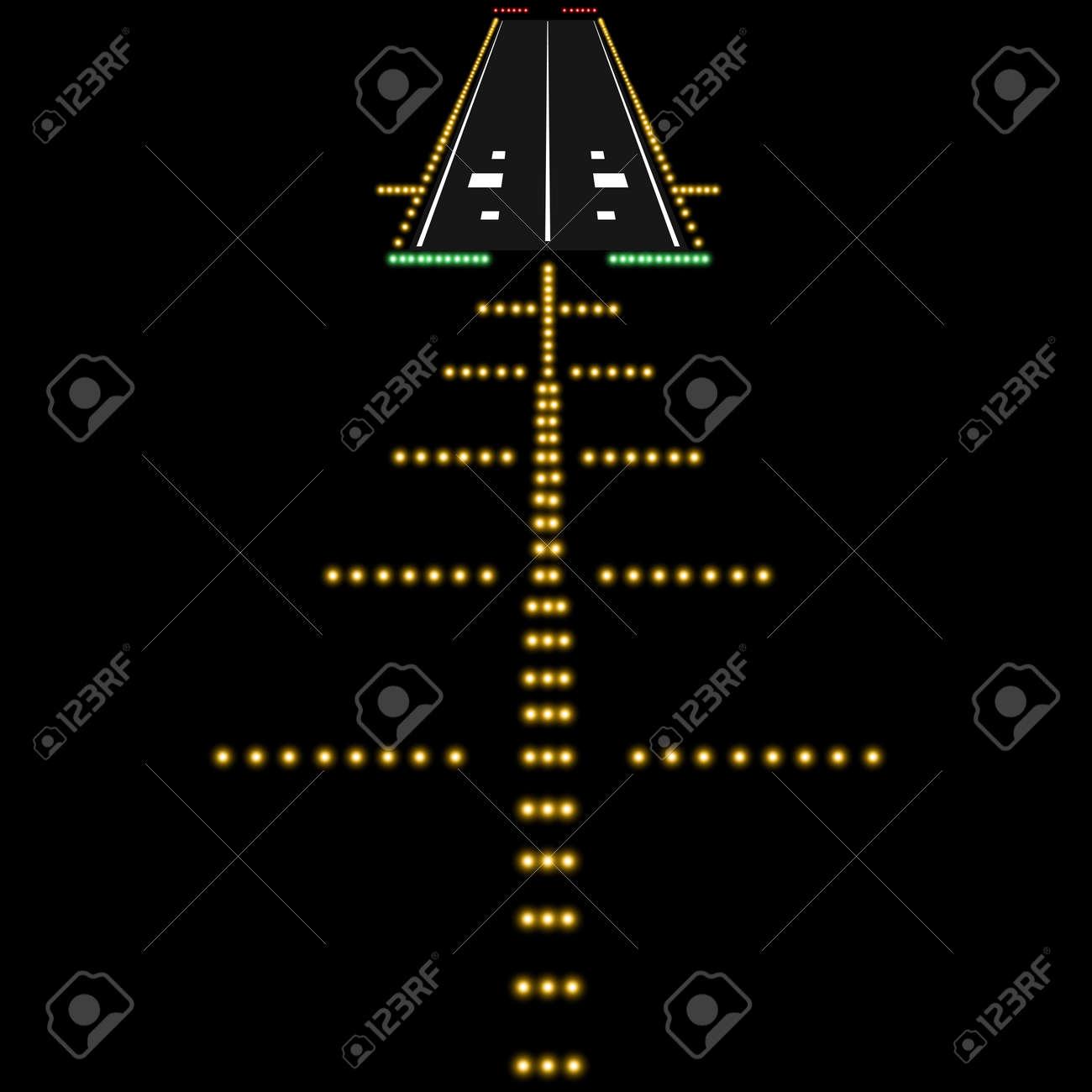 Landing lights. Vector illustration. - 22561931
