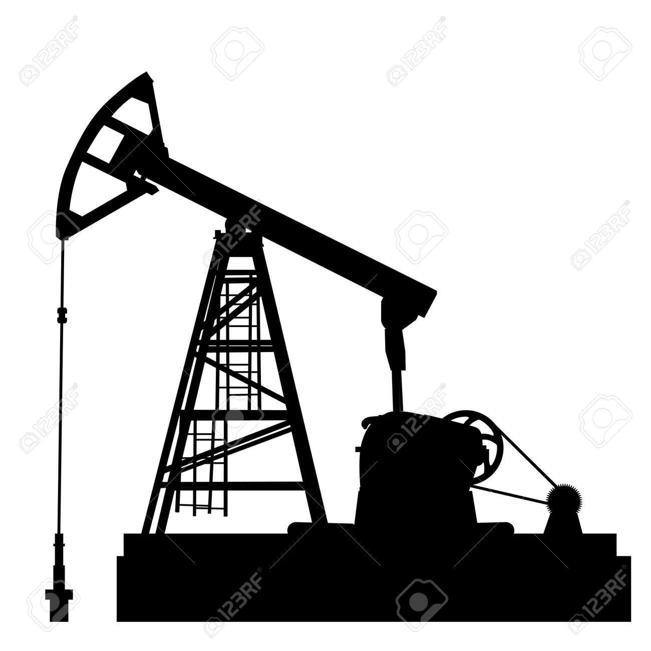 Oil pump jack. Oil industry equipment. Vector illustration. - 22886709