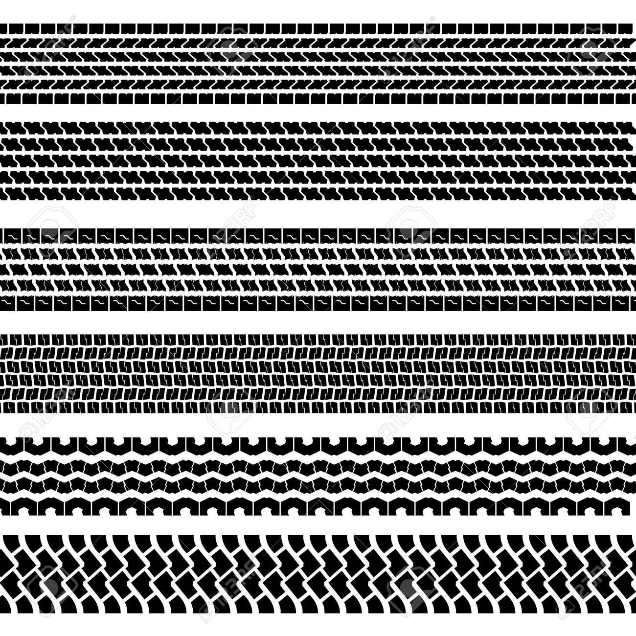 Set of detailed tire prints, vector illustration - 24294506