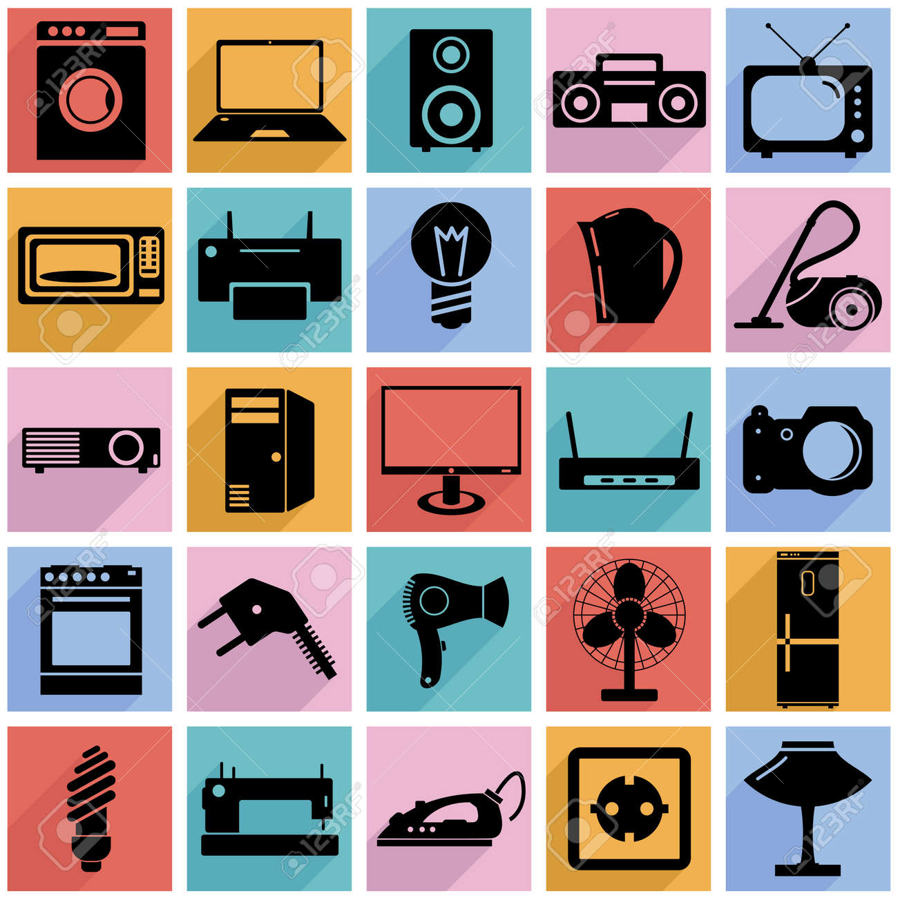 Electrical Devices Symbols Illustration Royalty Free Cliparts