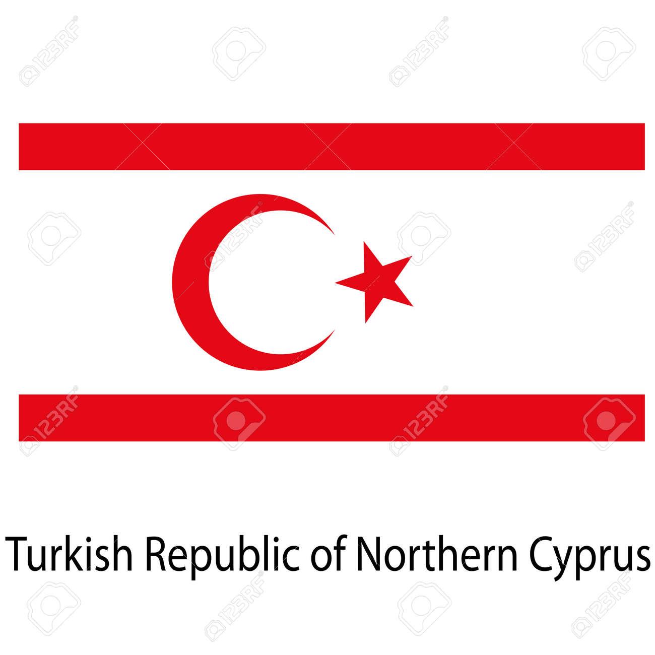 Flagge Des Landes Türkische Republik Nordzypern. Vektor-Illustration ...