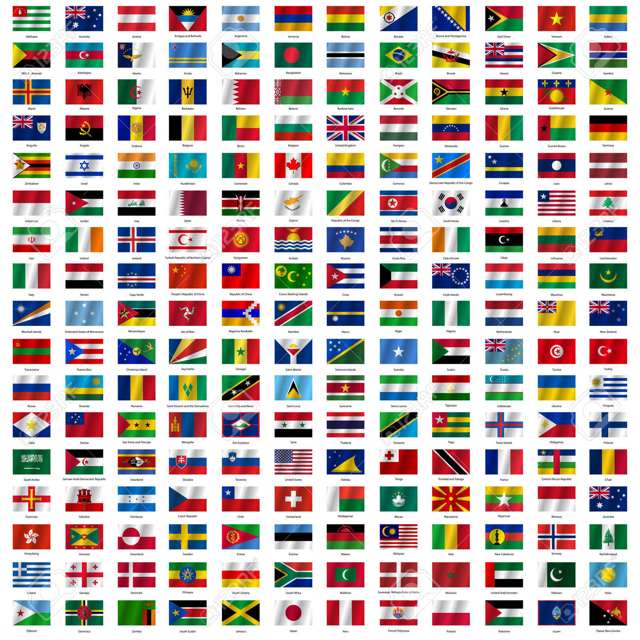 drapeaux du monde - Photo