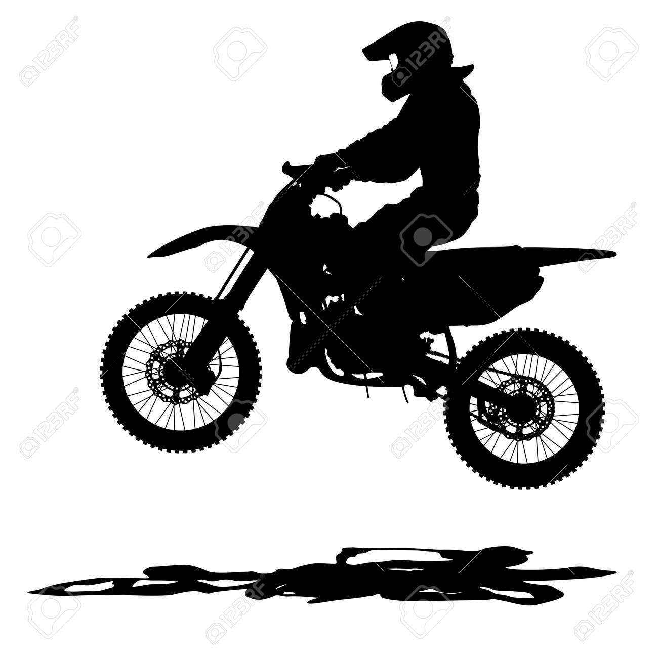 Black Silhouettes Motocross Rider On A Motorcycle Vector Illustrations Royalty Free Cliparts Vectors And Stock Illustration Image 37738022