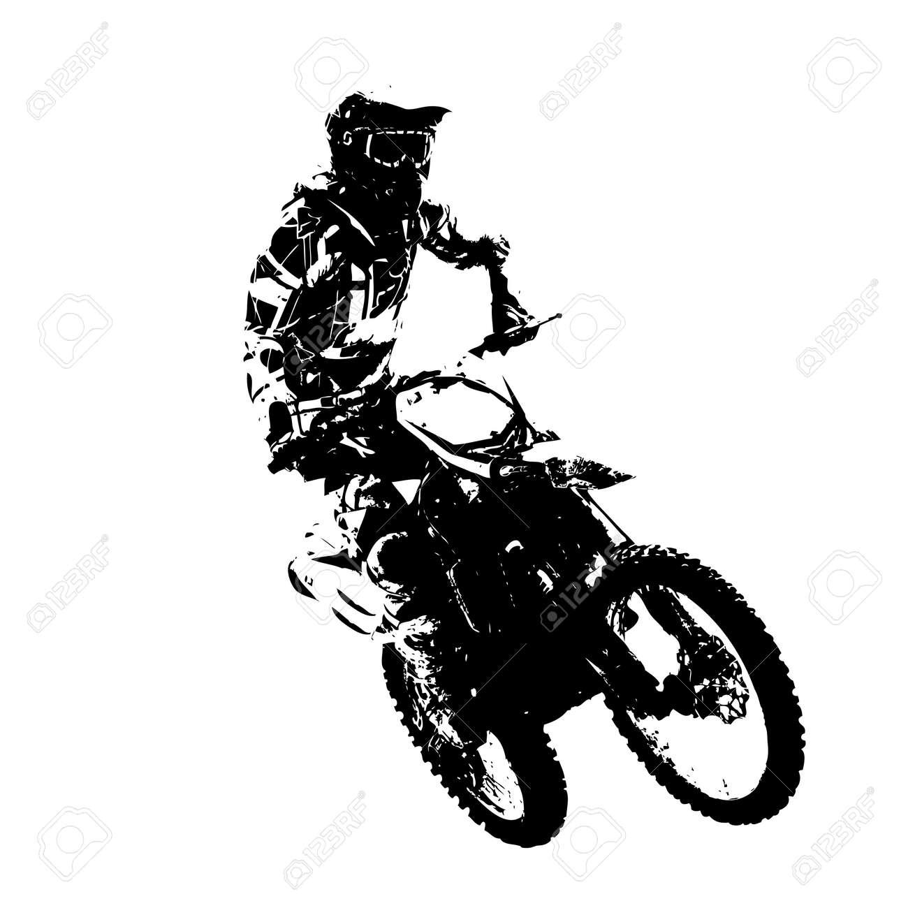 Rider participates motocross championship. Vector illustration. - 39162125
