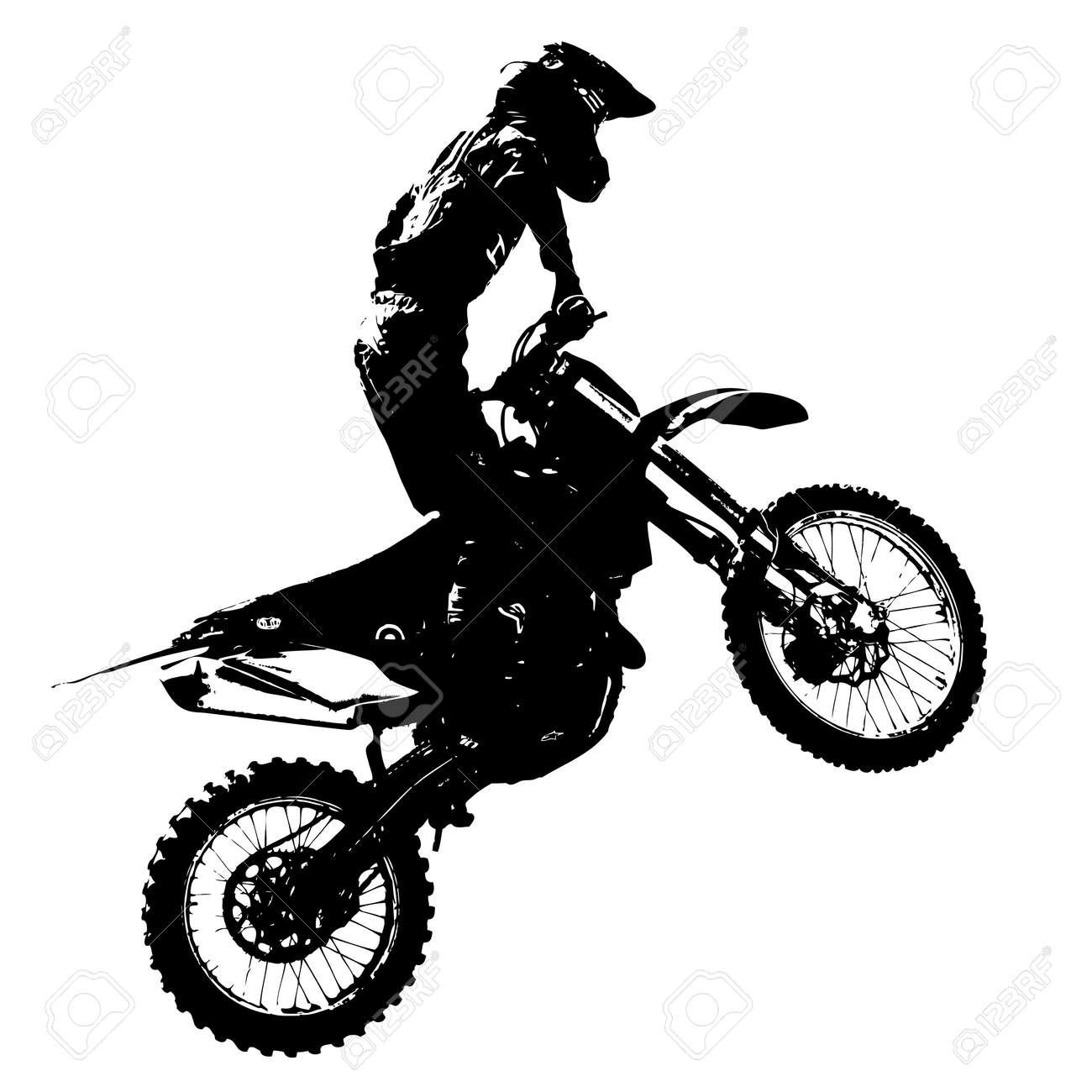 Rider participates motocross championship. Vector illustration. - 39162339