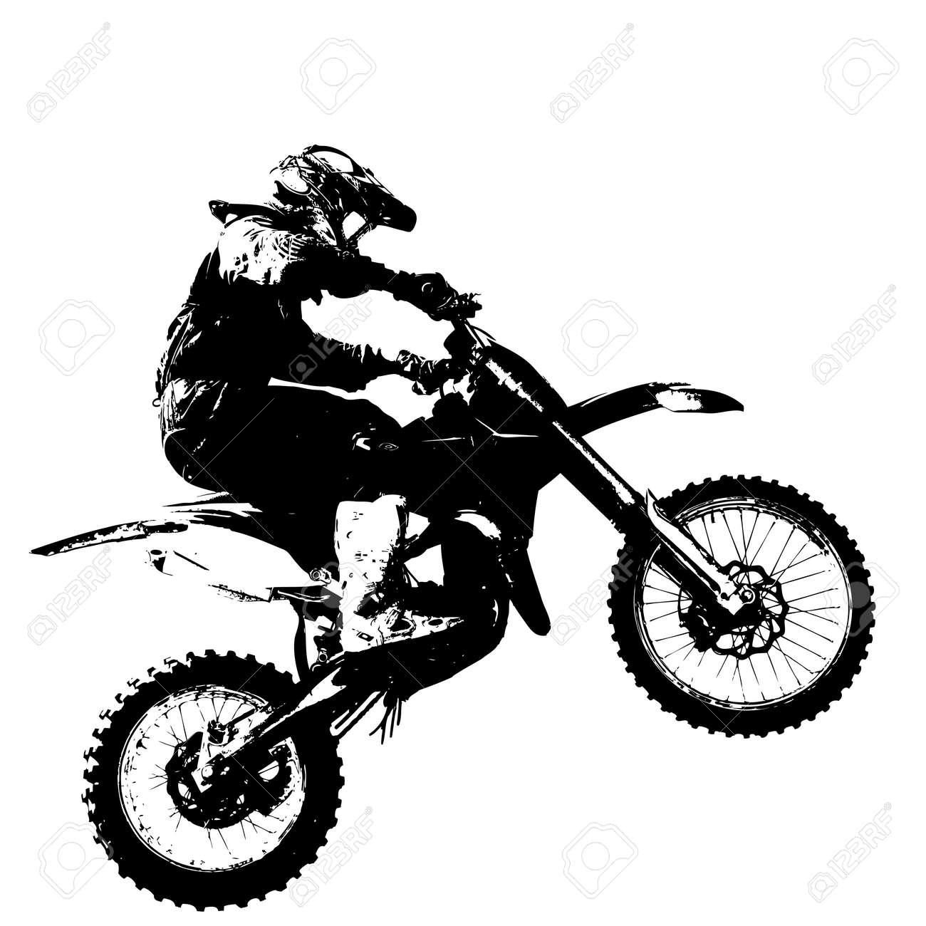 Rider participates motocross championship. Vector illustration. - 39162356
