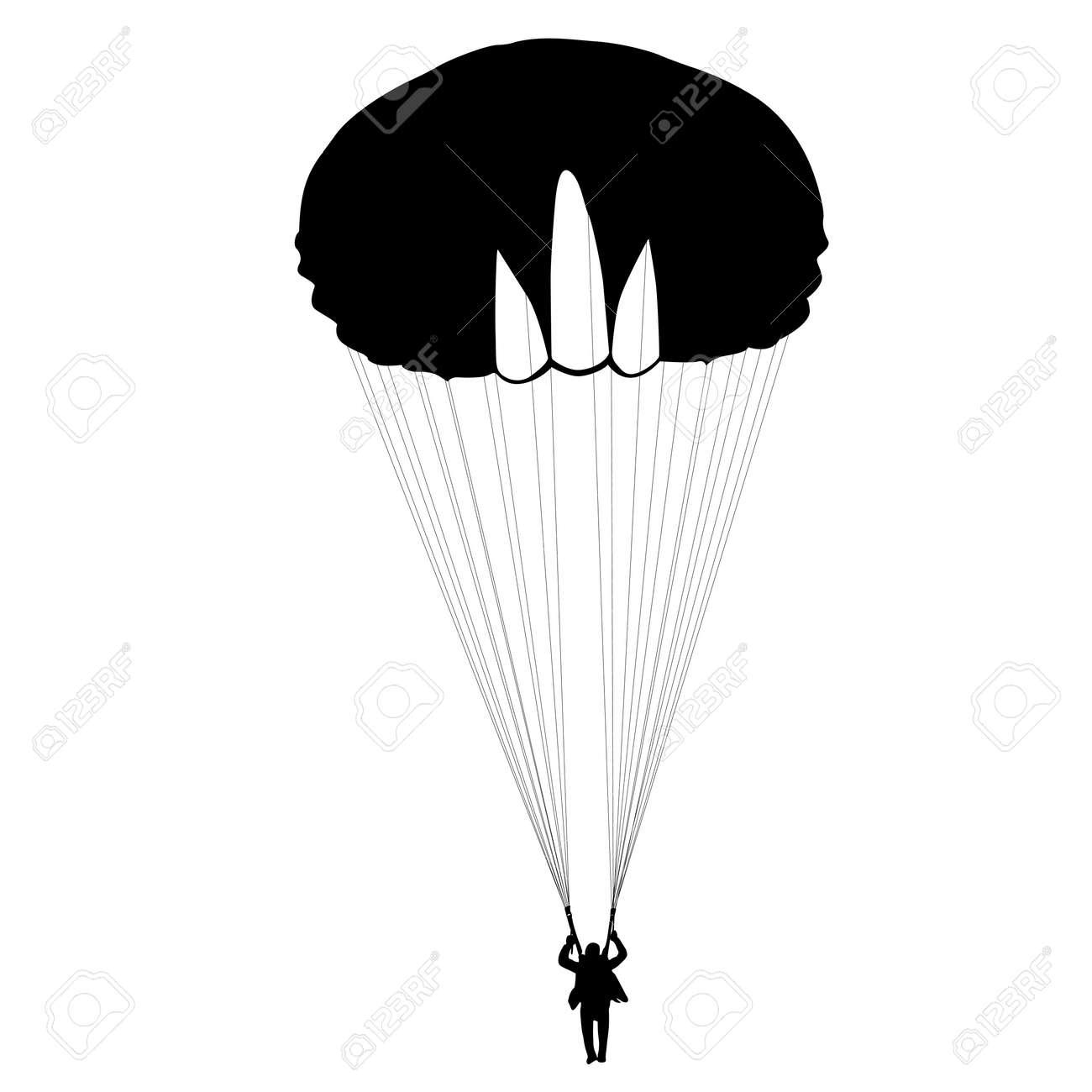 skydiver silhouettes parachuting vector illustration royalty free rh 123rf com parachute vector art parachute vector free