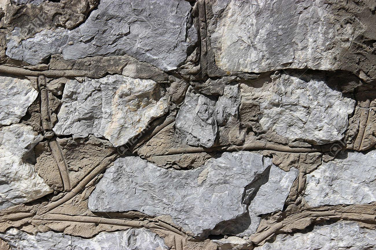 Peinture à L Huile Mur De Pierres Sèches En Pierre Grise Aléatoire Dessinez Rugueuse Maçonnerie Bossages En Pierre Texture De Fond