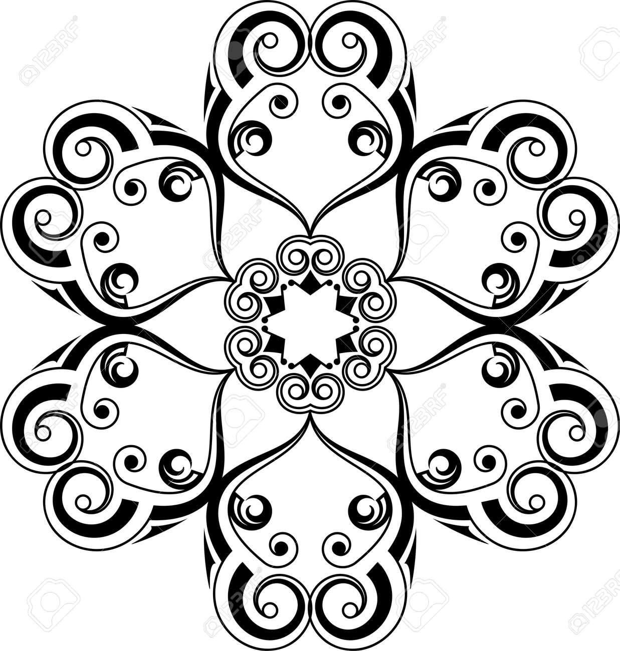 8cf257ceb Circular Tribal Tattoo Design Vector Art Illustration Stock Vector -  96571010