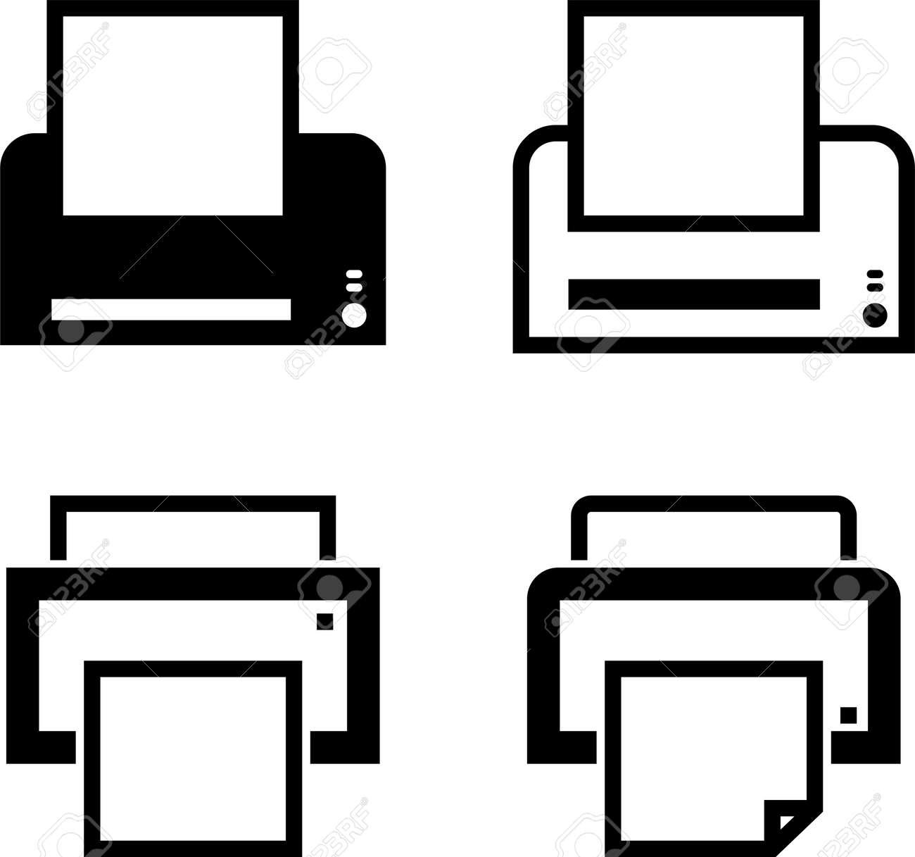 printer icon ink jet laser printer vector art illustration royalty free cliparts vectors and stock illustration image 97393842 123rf com