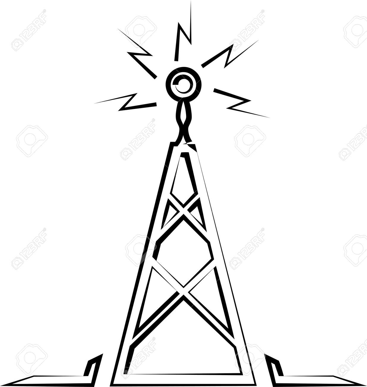Radio Tower Icon Vector Art Illustration