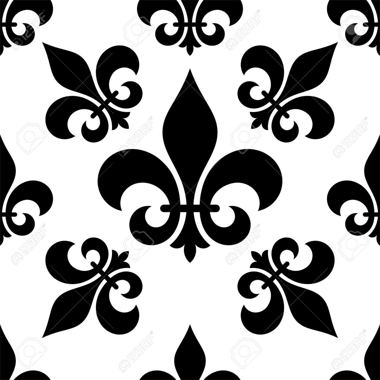 Fleur De Lis Seamless Pattern Fleur De Lys Or Flower De Luce Royalty Free Cliparts Vectors And Stock Illustration Image 106506832