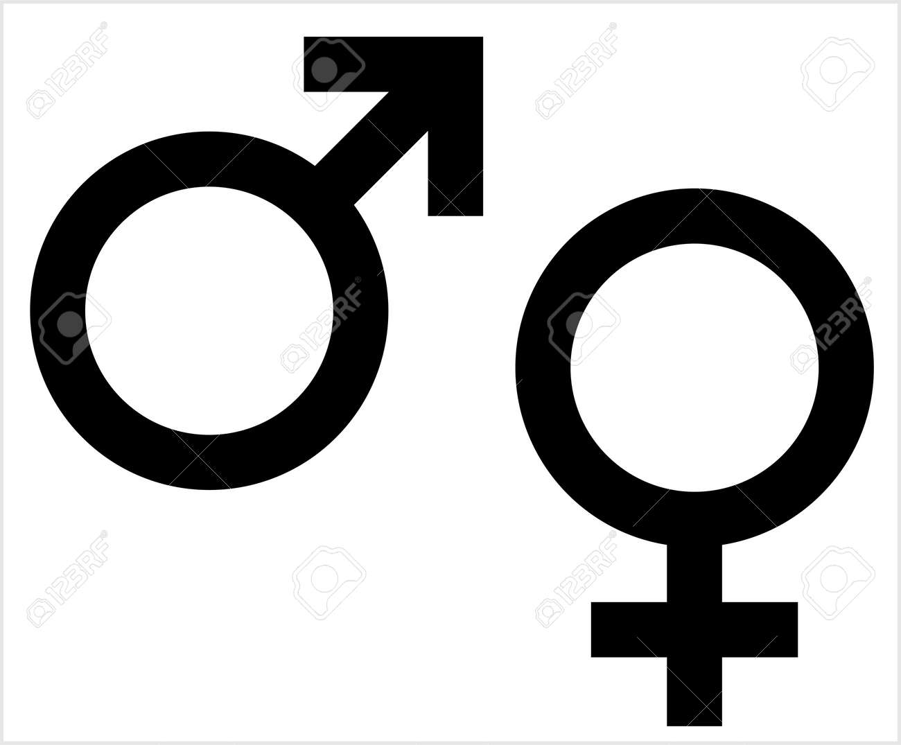 gender symbol icon male female biological sex symbol icon vector royalty free cliparts vectors and stock illustration image 127713563 123rf com