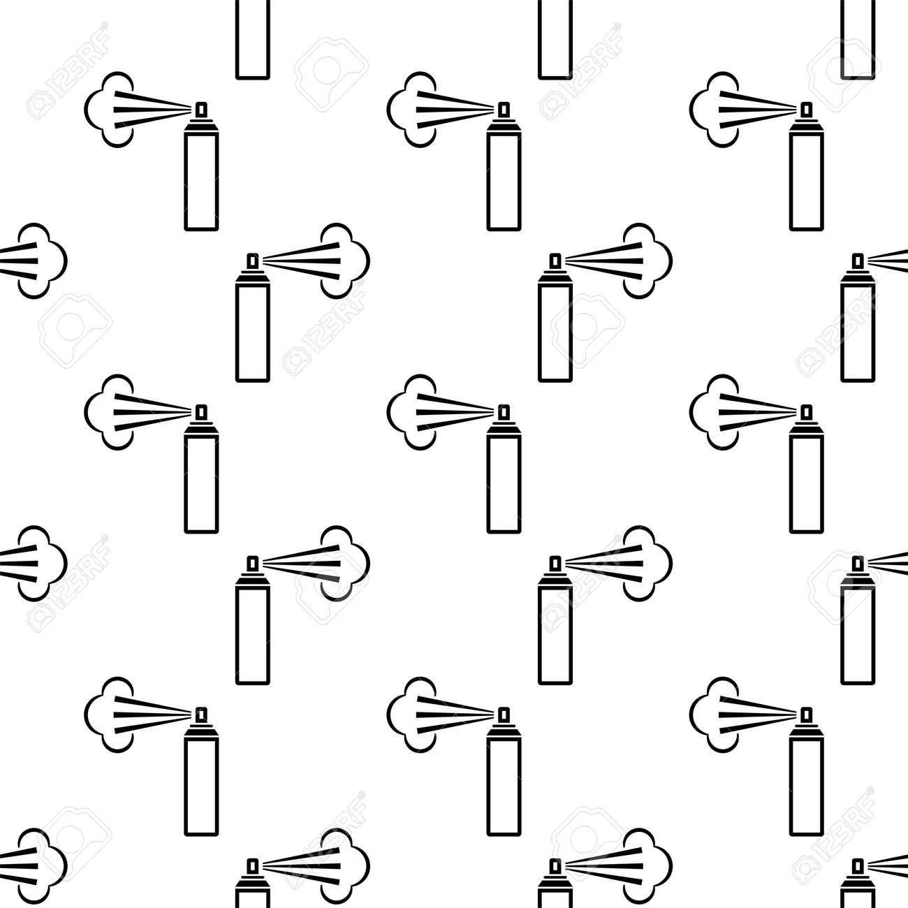 Aerosol Fluid Spray Cloud Icon Seamless Pattern Vector Art Illustration - 149571087