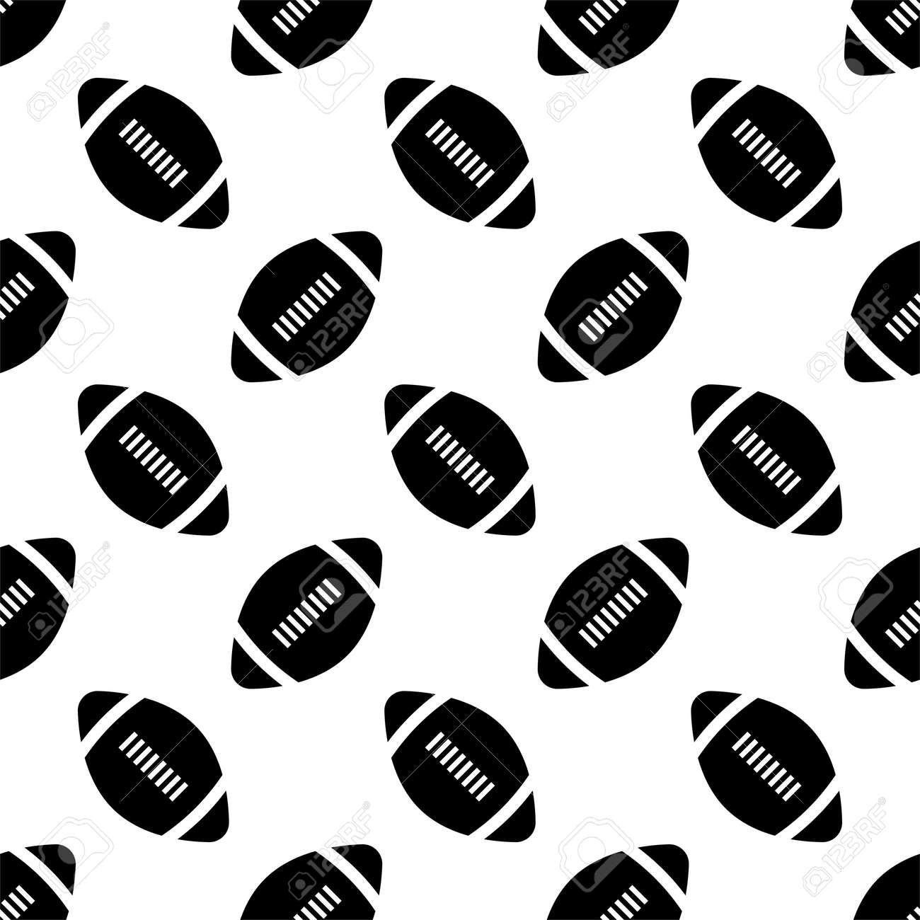 American Football Icon Seamless Pattern, Soccer Ball Seamless Pattern Vector Art Illustration - 149570949