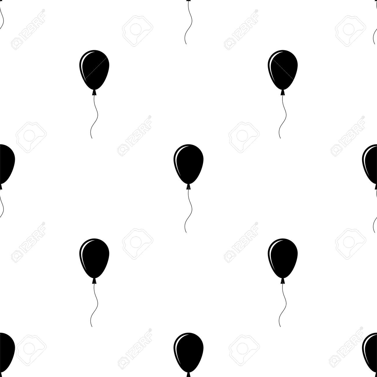 Balloon Design Seamless Pattern Vector Art Illustration - 149570958