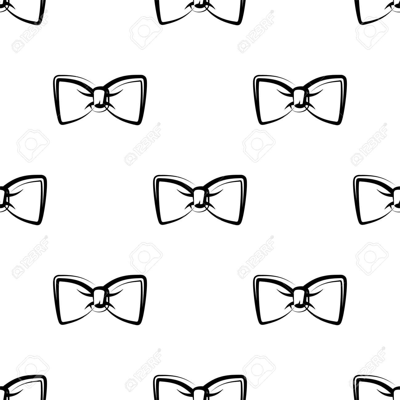 Bow Tie Icon Seamless Pattern Vector Art Illustration - 149570970