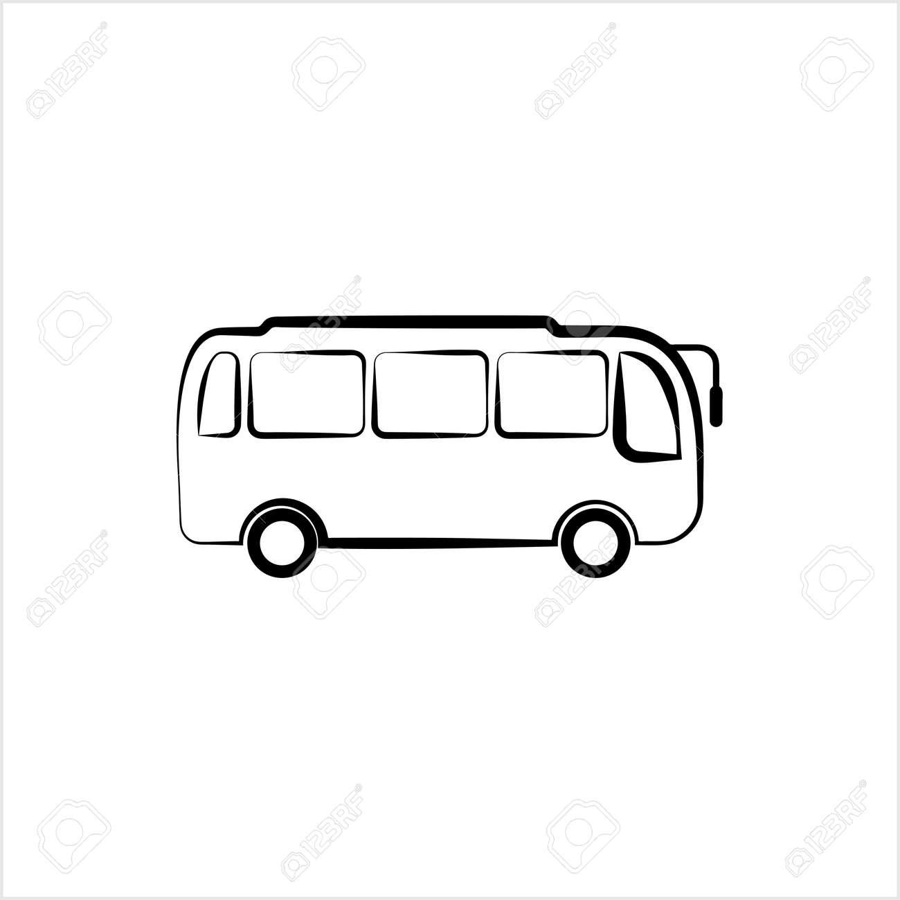 Bus Icon, Bus Vector Art Illustration - 148095305