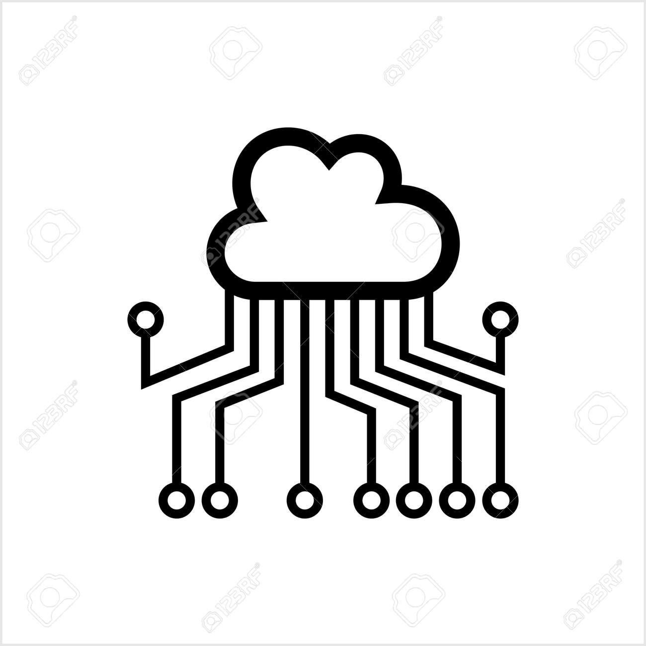 Cloud Network, Cloud Computing Concept Vector Art Illustration - 148095375