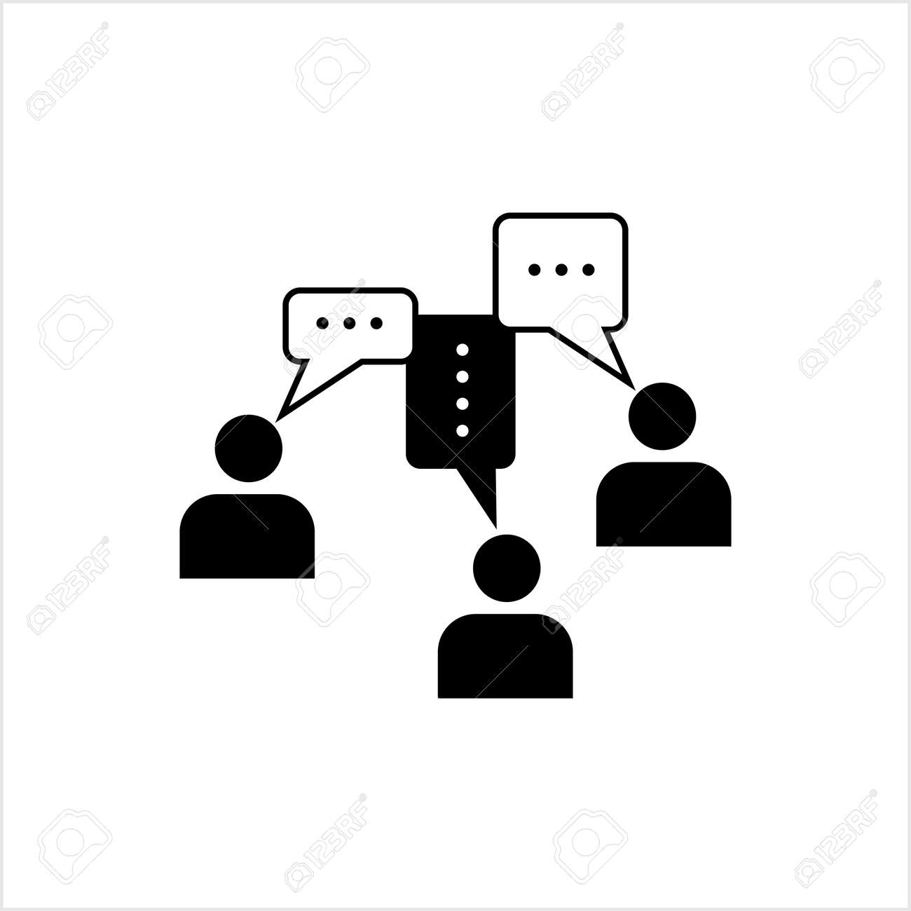 Communication Icon, Business, Social Communication Icon Vector Art Illustration - 148095205
