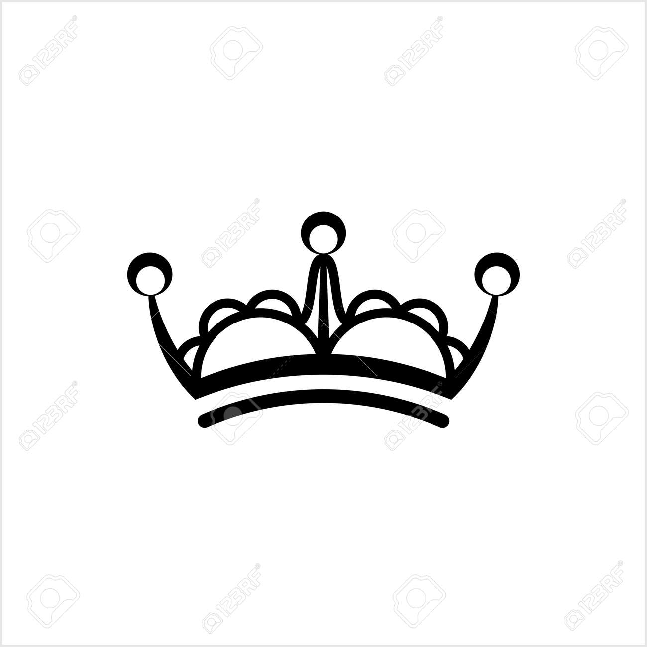 Crown Icon, Crown Vector Art Illustration - 148095194