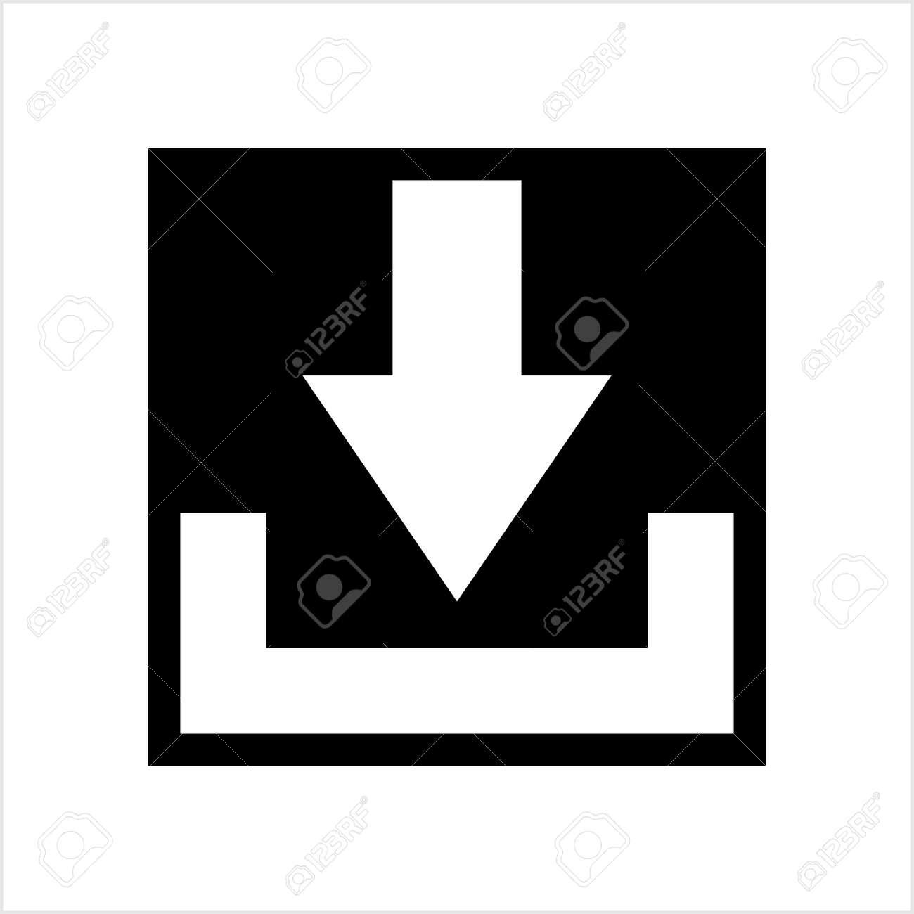 Download Icon, Download Vector Art Illustration - 148095368