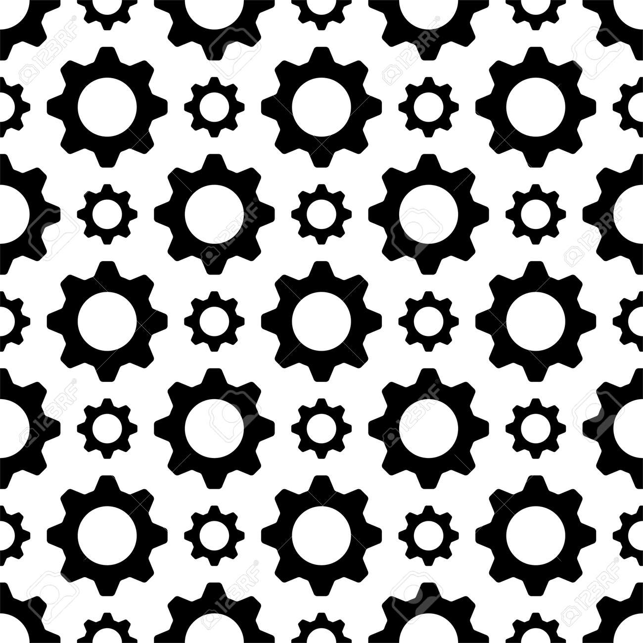 Setting Icon Seamless Pattern, Gear, User Preference Setting Vector Art Illustration - 149571104