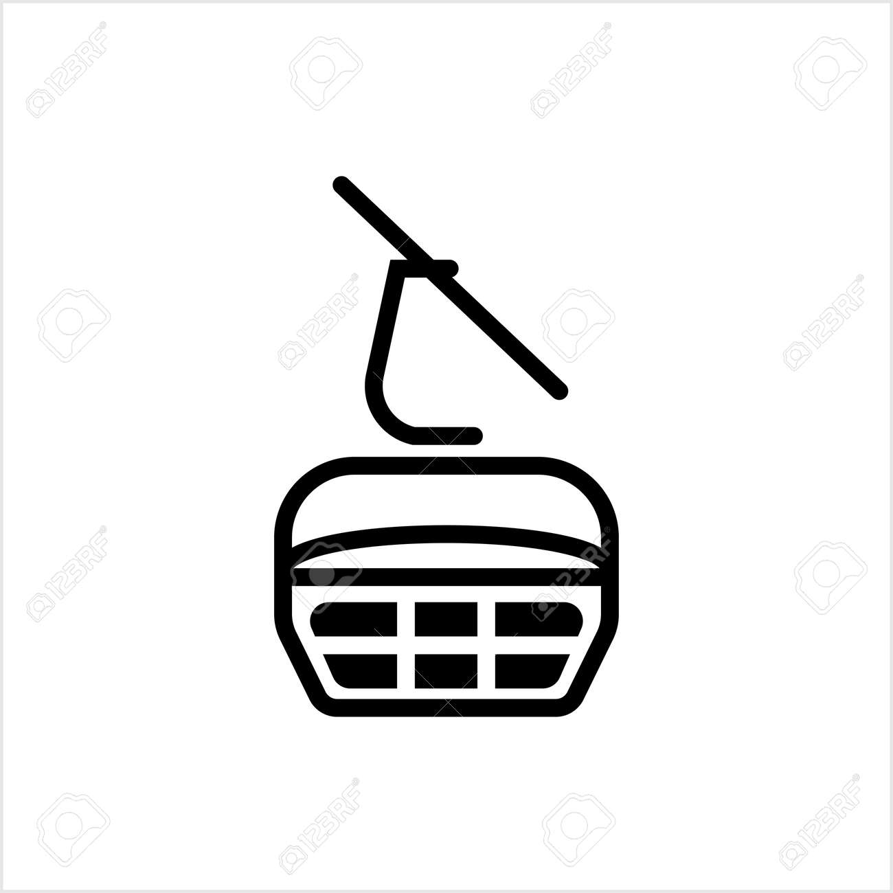 Ski Lift Icon, Aerial Lift Icon Vector Art Illustration - 149571108