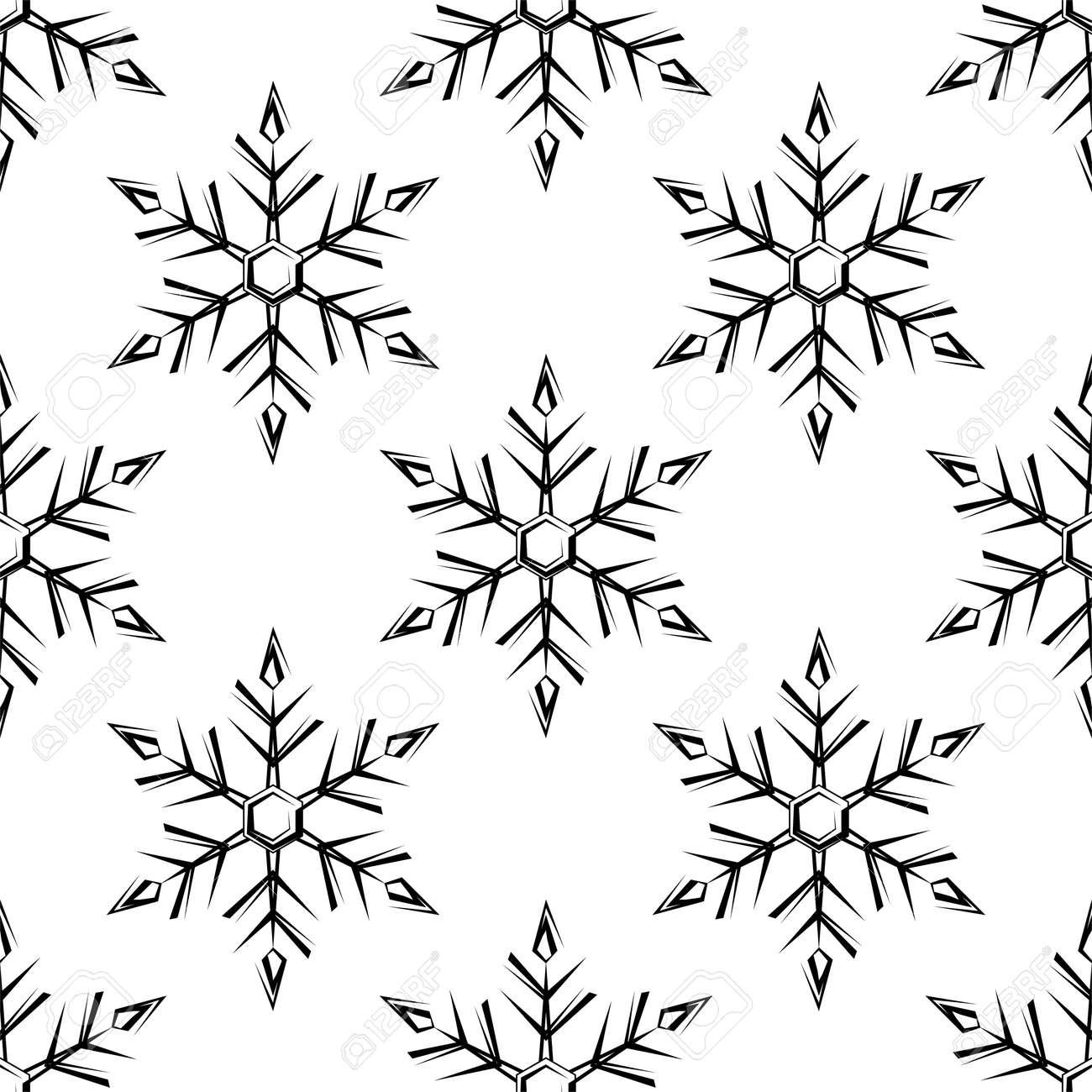 Snowflake, Snow, Ice Crystal Shape Seamless Pattern Vector Art Illustration - 149571110