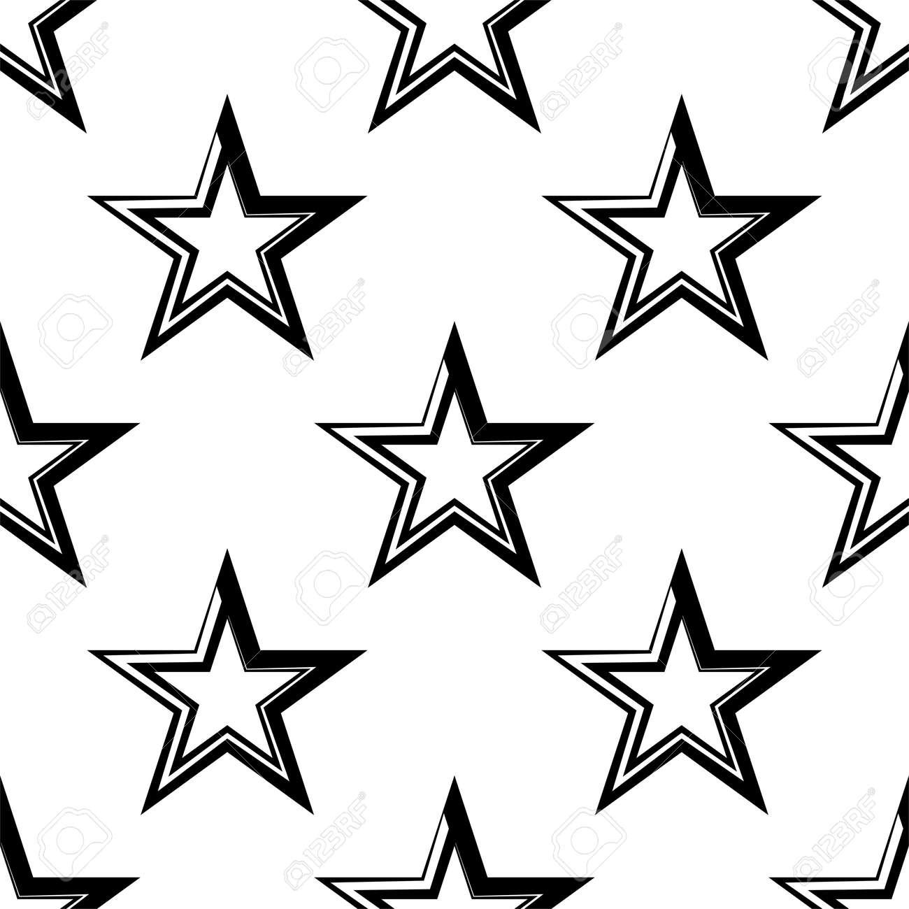 Star Shape Icon Seamless Pattern Vector Art Illustration - 149571111