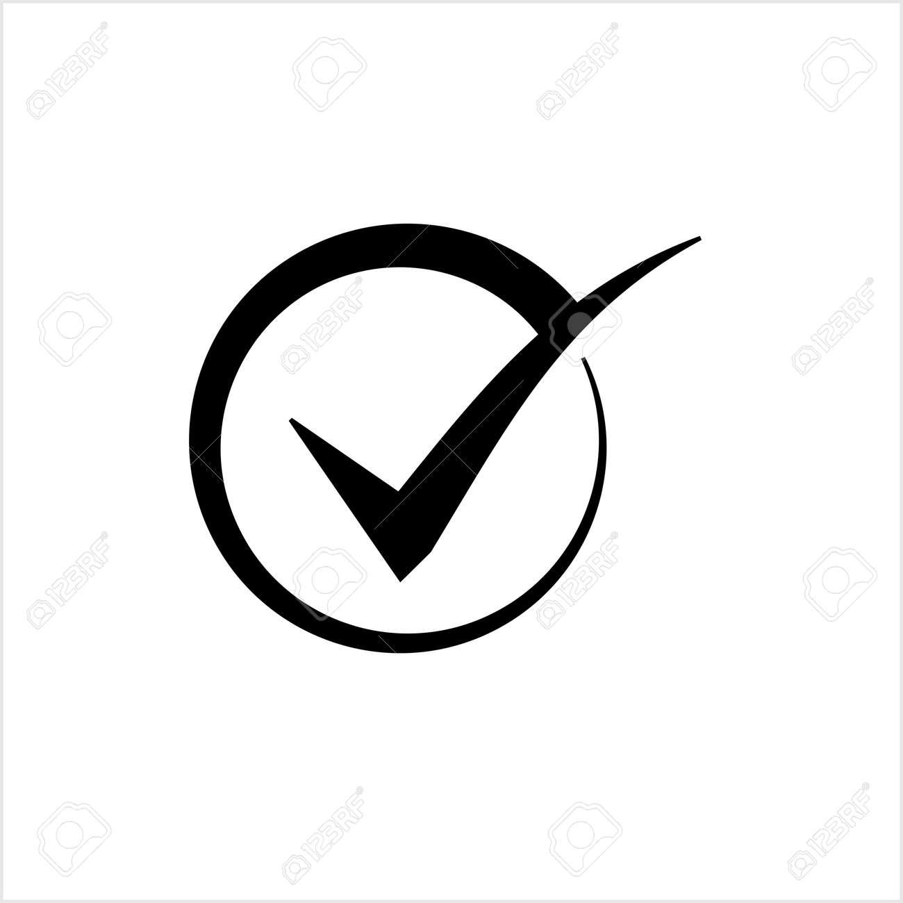 Tick Mark Icon, Check Mark, Right Mark, Vector Art Illustration - 148095418