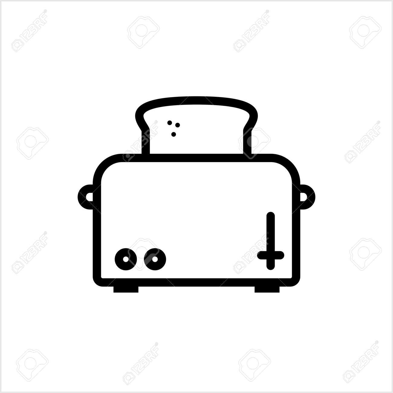 Toaster Icon, Toaster Vector Art Illustration - 148095236